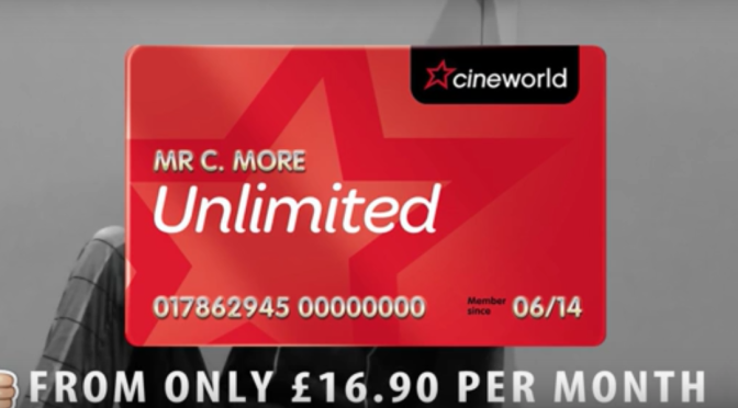 Cineworld Rugby Promos: X-Men – Unlimited Card and Milkshakes
