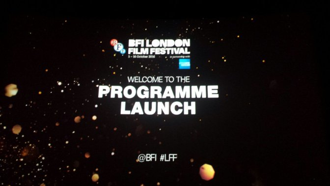 BFI London Film Festival – 2016 Program Launch
