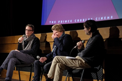 THE NEON DEMON Film-maker Nicolas Winding Refn in conversation with James Bond writers Robert Wade and Neal Purvis at the Prince Charles Cinema, Leicester Square on 24/10/2016 . THE NEON DEMON arrives on DVD/Blu-ray/VOD/Digital 31st October and writer director Nicolas Winding Refn has been in London attending a special one night only screening event at the Prince Charles Cinema in Leicester Square. The event kicked off with a screening of Refn's controversial and powerful THE NEON DEMON followed by conversation between the esteemed director and writers Robert Wade and Neal Purvis who are known for James Bond blockbusters SPECTRE, SKYFALL, CASINO ROYALE and more. The night was completed by a screening of Refn's critically acclaimed DRIVE. Picture by Julie Edwards . FREE FOR USE FOR ARTICLES IN CONJUNCTION WITH NAMED EVENT / NEON DEMON RELEASE ONLY. ANY OTHER USE CHARGEABLE. IMAGES REMAIN COPYRIGHT OF JULIE EDWARDS